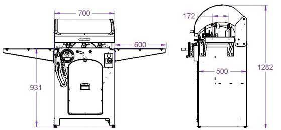 Medidas seccionadora longitudinal Solumach